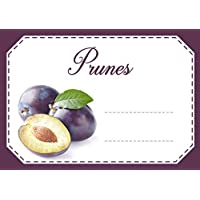 Mon Bio Jardin Lot de 30 étiquettes autocollantes prunes pour confiture, compote, conserves maison