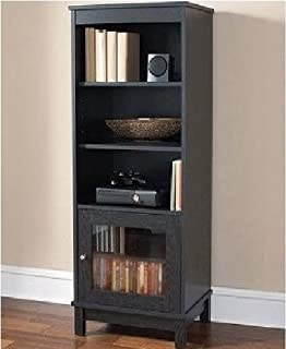 Amazon.com: Audio Pier Free Standing Media Cabinet, Cherry ...