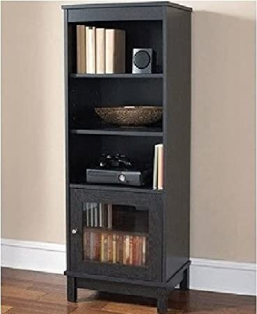 Good Audio Video Pier Free Standing Media Cabinet (Black Oak)