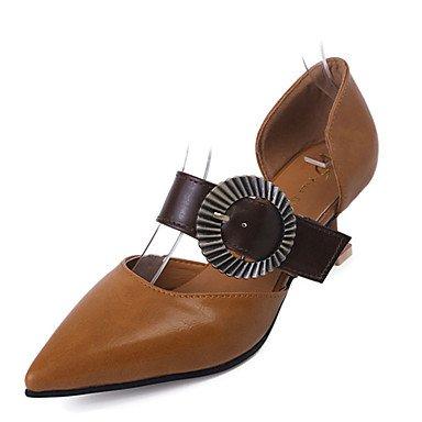 LvYuan 7 Décontracté 5 à à ggx black Chaussures Talons Talon Aiguille cm Femme Polyuréthane Confort Noir Printemps Brun Rose Confort claire Beige Hqw4HrT8
