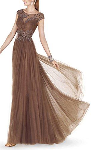 lange Strandkleid Chiffon BRIDE Brown Abendkleid GEORGE q6xwOPnYq