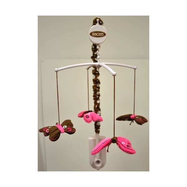 Butterflies pink/chocolate Musical Mobile
