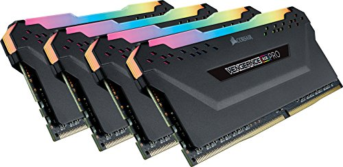 (CORSAIR Vengeance RGB PRO 32GB (4x8GB) DDR4 2666MHz C16 LED Desktop Memory - Black)