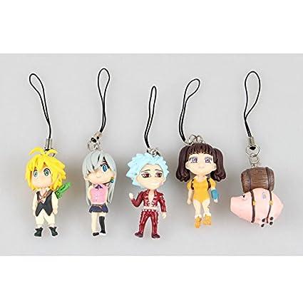 5pcs/set los siete pecados/Nanatsu no Taizai PVC juguete ...