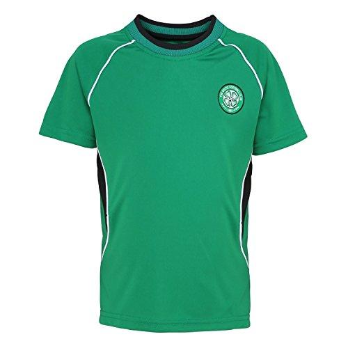 - Official Football Merchandise Kids Celtic FC Short Sleeve T-Shirt (10/11 Years) (Green)