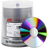 JVC Taiyo Yuden Silver Lacquer 8X DVD-R Media (Premium Line) 100 Pack in Cake Box