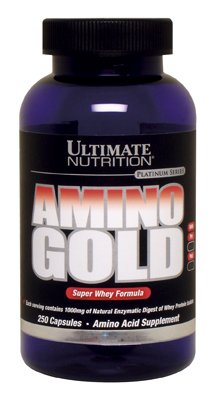 Amino Gold Capsules - Ultimate Nutrition Amino Gold Capsules, 1000 mg, 250-Count Bottles