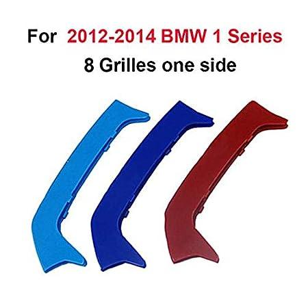 Maiqiken 3D Coche Rejillas Frontales Cover Hebilla para 1 Serie F20 F21 116 118 120 125 135 2015-2017 ABS 3 Colores 11 Rejillas un Lado