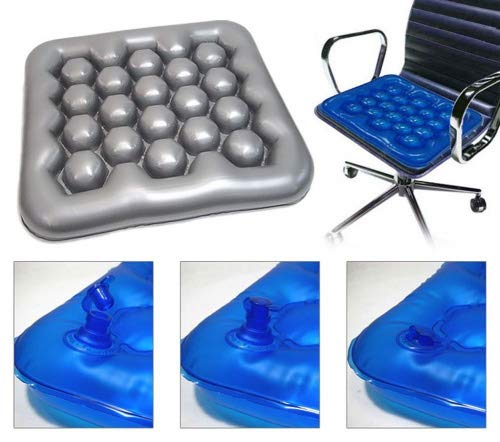 Air water cushion (Gray Color) Inflatable Wheelchair Driver Car Cushion Preventing Bedsore Office Driver Seat Cushion