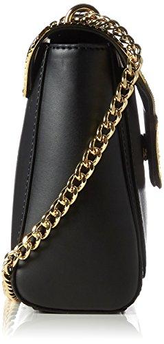 Love Moschino Borsa Calf Pu Nero - Borse Baguette Donna, Schwarz (Black), 18x28x8 cm (L x H D)