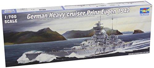 Trumpeter 1/700 German Prinz Eugen Heavy Cruiser 1942 Model Kit (German Cruiser)
