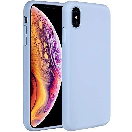 Miracase Liquid Silicone Case Compatible with iPhone Xs Max 6.5 inch (2018), Gel Rubber Full Body Protection Shockproof Cover Case Drop Protection Case (Clove Purple)