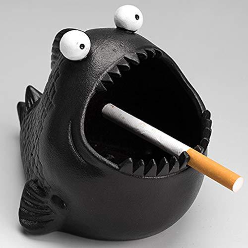 MELAG Asbak Gepersonaliseerde Piranha Asbak Leuke Keramiek Asbak Decoratie Thuis Cartoon Dier Sigaret Asbak Thuis En…