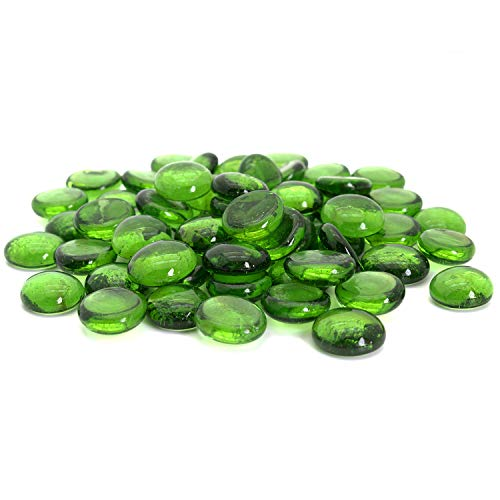 - Green Flat Marbles, Pebbles, Glass Gems for Vase Fillers, Party Table Scatter, Wedding, Decoration, Aquarium Decor, Crystal Rocks, or Crafts by Royal Imports, 5 LBS (Approx 400 pcs)