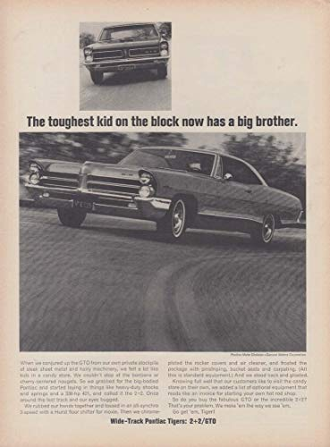The toughest kid on the block now has a big brother - Pontiac 2+2 ad 1965