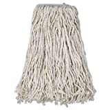 Boardwalk Cotton Mop Head, Cut-End, 32, White, 12/Carton