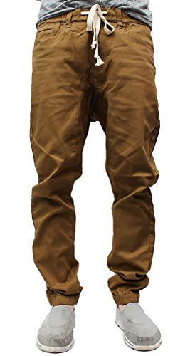 Victorious NEW Colors Mens Twill Jogger Pants (M, Dark Wheat)