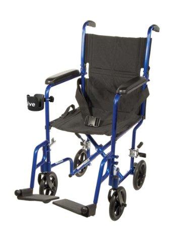 FW17BL - Flyweight Lightweight Folding Transport Wheelchair