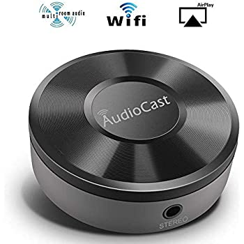 Airplay Receiver, RIVERSONG Wireless Music Receiver Wifi Music Receiver  DLNA Airplay Adapter Wifi Audio Receiver, Wireless Audio and Music to  Speaker