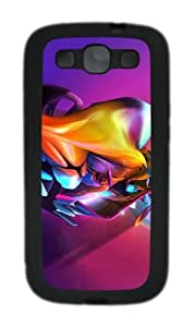 3D Colorful Abstract Colorful Effect Custom Design Samsung Galaxy S3 Case Cover - TPU - Black