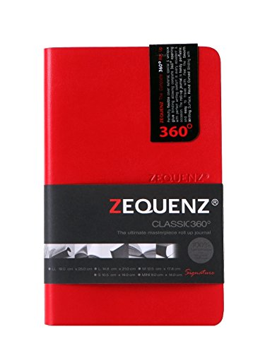 Zequenz Classic 360 Soft Cover pocket Notebook, soft bound journal, Red, 3.5