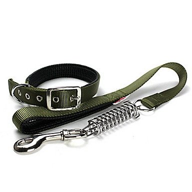 Feng Camouflage Style Spring Collar with Leash for Dogs (70cm/27.5inch)