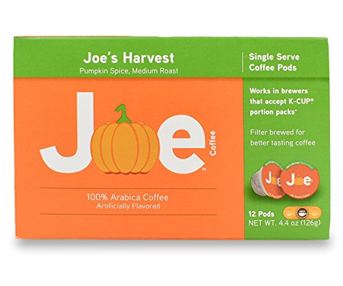 Joes Knows Coffee Pods (Joe's Harvest Pumpkin Spice, 12 Count)