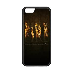 Funny Quote Series, IPhone 6 Plus Cases, Fire Typography Cases for IPhone 6 Plus [Black]