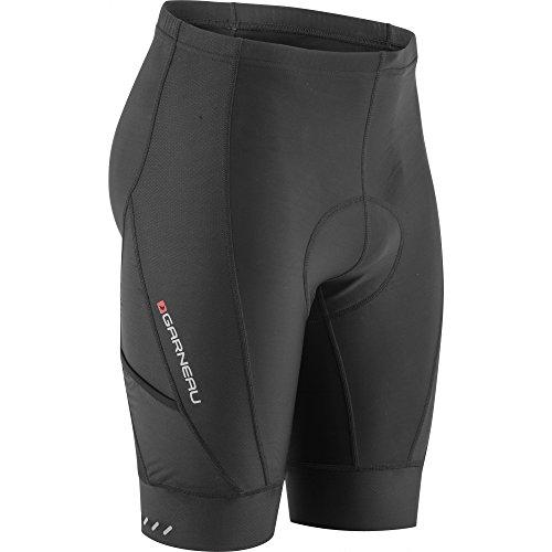 Louis Garneau Men's Optimum Bike Shorts, Padded and Breathable, Black, XX-Large ()