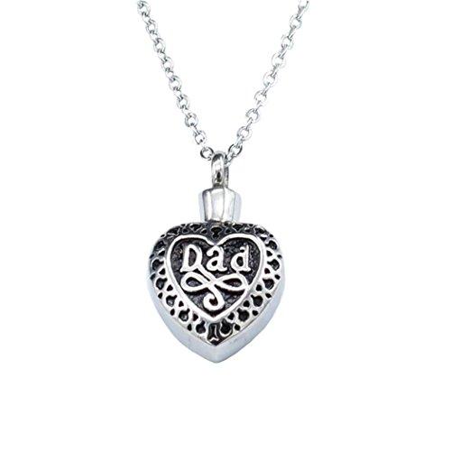 (LLguz Simple Men Fashionable Heart-shaped Alloy Pendant Necklace Jewelry Ornament)