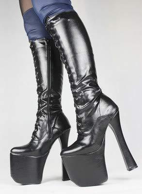 20 dicken Stiefel Black cos High Boden super cm heels Gürtel Mittel wXTWx5q7W