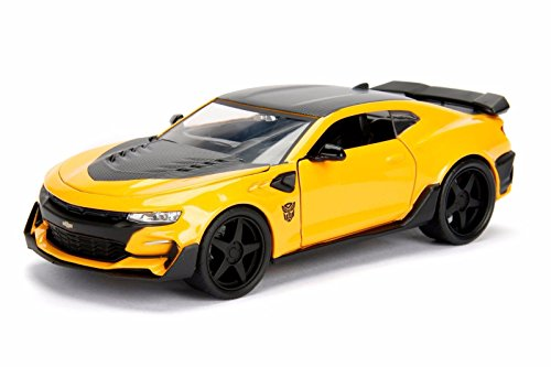 NEW 1:24 JADA TOYS DISPLAY METALS - TRANSFORMERS COLLECTION - THE LAST KNIGHT - BUMBLEBEE 2016 CHEVROLET CAMARO Diecast Model Car By Jada Toys (WITHOUT RETAIL (New Transformers Bumblebee)