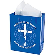 Blue Welcome to Our Church Gift Bags