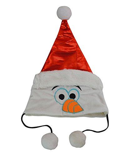 Disney Frozen Olaf Santa Hat (Silly Snowman Christmas Costume)