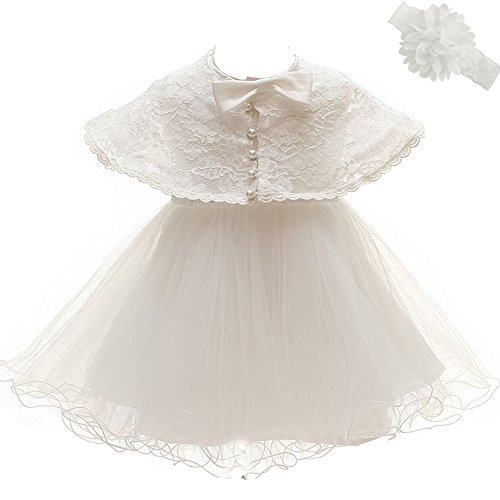 Cinda Baby Girl White Embroidered Christening Dress Party Dress