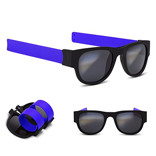 SLAP-SHADES SUNGLASSES, POLARIZED UV LENSES, Blue - Slap Sunglasses