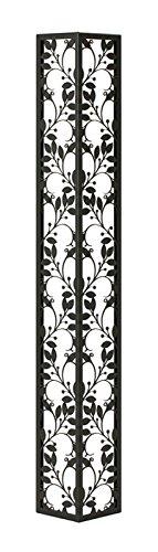 壁飾り 外壁 ウォールアクセサリー 亜鉛鋼板(焼付塗装) シャドーピクチャー コーナータイプ デザインA 取付ピン付属 B0793R1Y3X