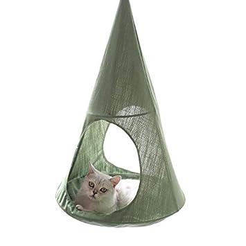 JLFAIRY 1 Pieza Gato Colgando Camas Perro Jaula Hamacas Suministros para Mascotas Esteras Cama Hamsters Cómodos Hamacas De Gato: Amazon.es: Productos para ...