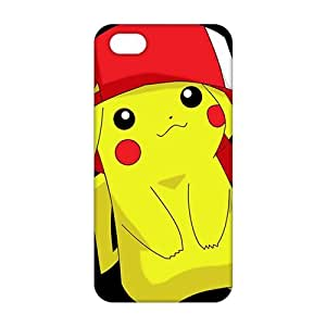 Angl 3D Case Cover cartoon Cute Pikachu Pokemon Phone Case for iPhone 6 4.7