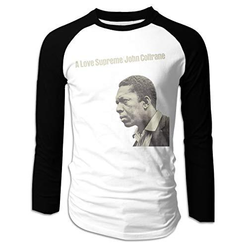 Men's Long Sleeve T-Shirt Shirt Tops Blouse John Coltrane A Love Supreme Printing V-Neck O-Neck L Black ()