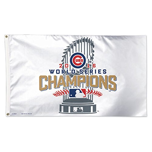 Chicago Cubs 2016 World Series Champions On-Field Locker Room Celebration Deluxe 3' x 5' Flag