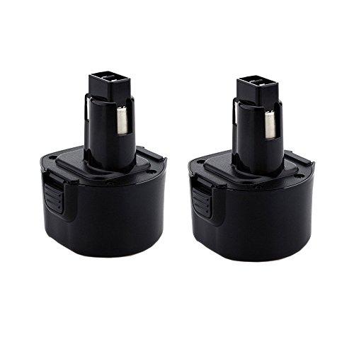 - 2x Masione 9.6v Dw9062 2.0Ah Battery for Dewalt Power Drill Tools Dw9061 Dw9062 De9036 De9062 Dw9614