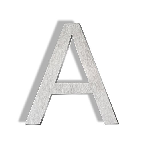 - Mellewell Floating Mount House Letters 5 Inch, Stainless Steel Brushed Nickel, Letter A