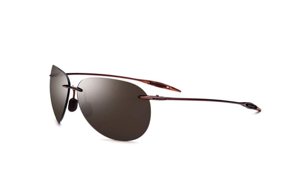 Grww ofd Gafas de Sol sin Montura de los Hombres Aviador espejadas Gafas de Sol de aviación para Mujeres Lente de Nylon
