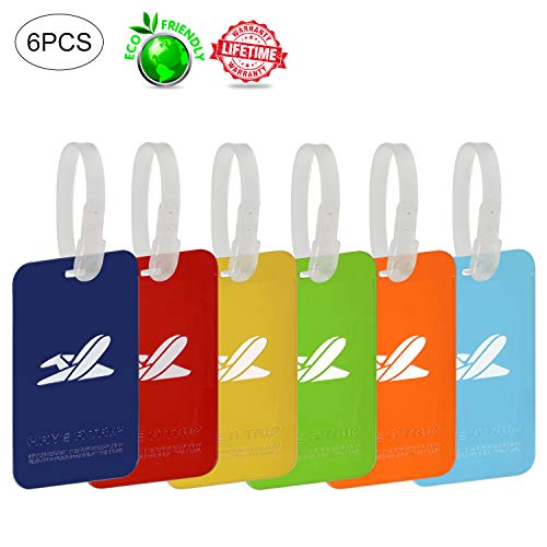 Carnival Cruise Tags Waterproof Luggage Tags for Women Kids Men Girl Pet Durable Secure Reusable with Multi Color Plastic Travel Tag Sets Bulk Holder Etag Holders Labels For Baggage Suitcases -