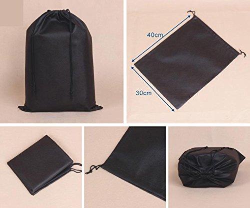 Liroyal Travel Shoe Bag Black (Set of 2)