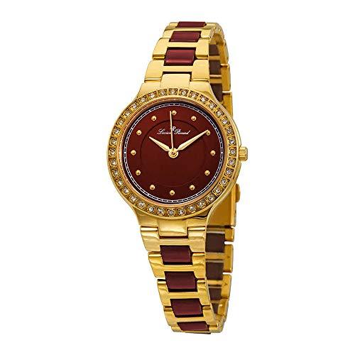 Lucien Piccard Natalie Red Dial Ladies Watch LP-28023-YG-24