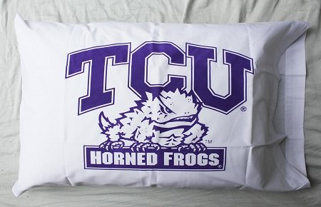 Bunnies and Bows - Texas Christian University Classic - Personalized Pillowcase