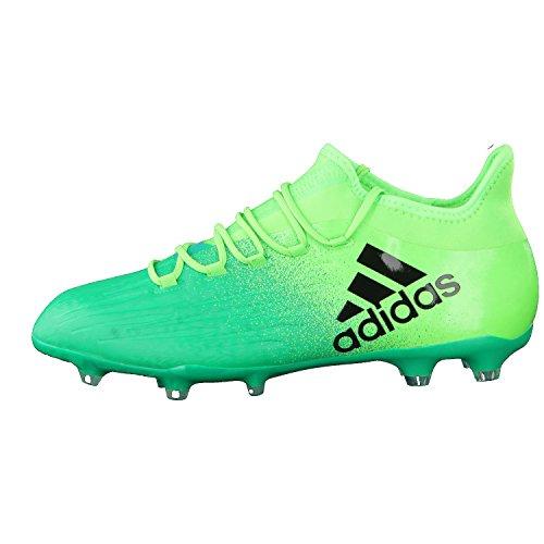 Bota de fútbol adidas X 16.2 FG Solar green-Core black vert/noir/vert citron