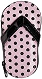 Kate Aspen Pink Polka Flip Flop Five Piece Pedicure Set with Matching Thank You Tag